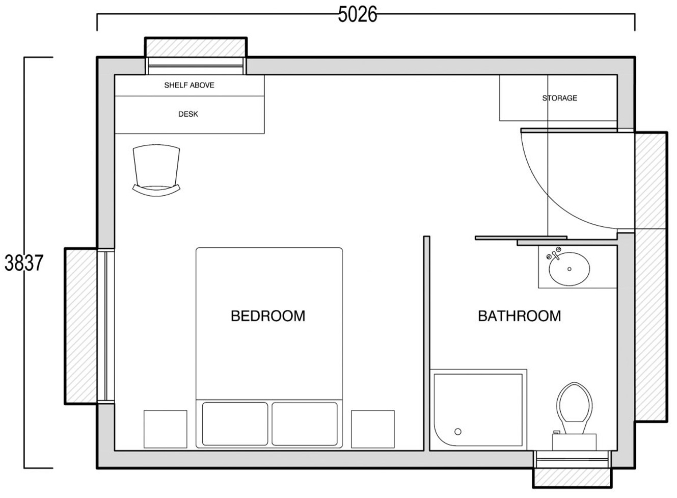 The Edge - one bedroom