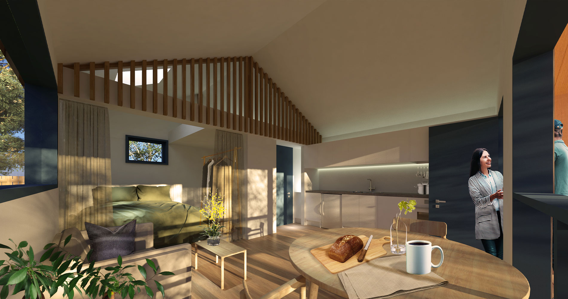 Nestd Homes - The Gable - one bedroom